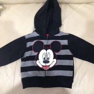 Disney Mickey Mouse Striped Zippered Jacket 12M